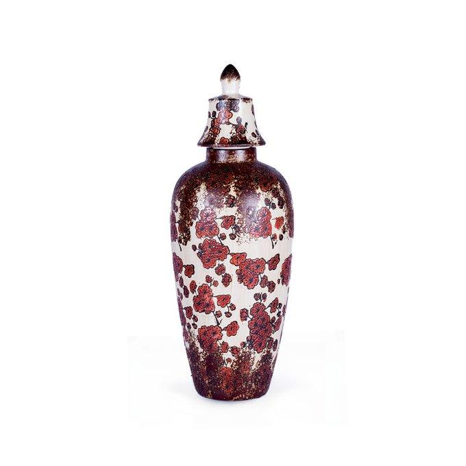 Керамическая ваза с крышкой Un Jardin