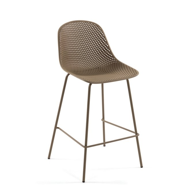 Барный стул Quinby  Beige  коричневого цвета