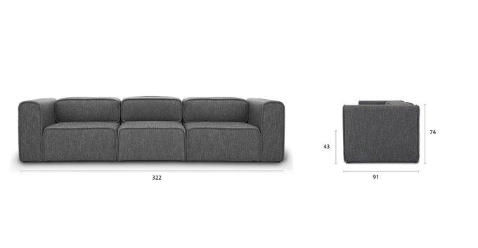 Модульный диван Метрополис XL gray