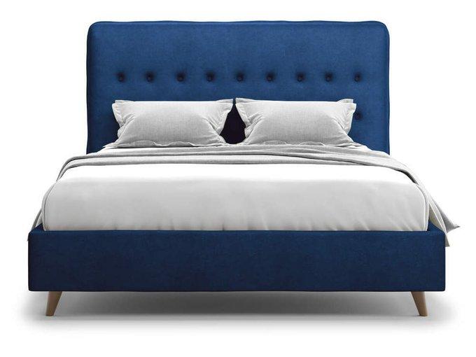 Кровать Bergamo синего цвета 160х200