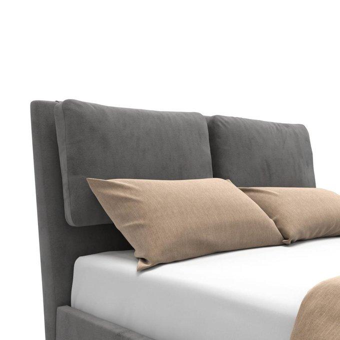 Кровать Parc с подъемным механизмом серая 180х200