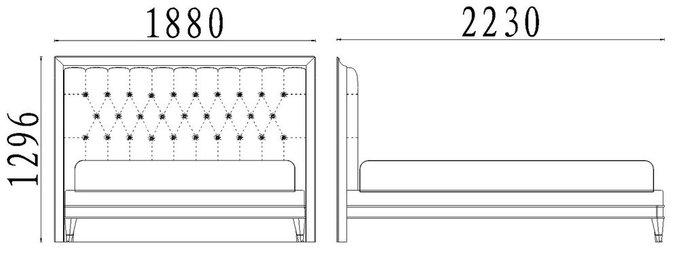 Кровать с решеткой Mestre 160х200