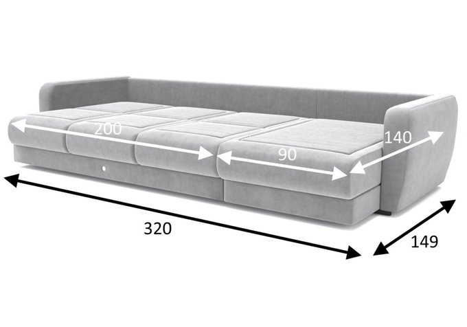 Угловой диван-кровать зеленого цвета