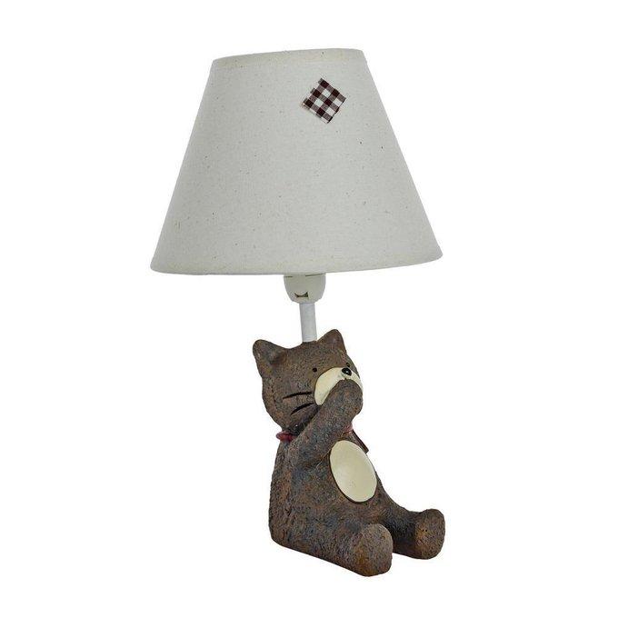 Детская настольная лампа Котик Ничего не скажу