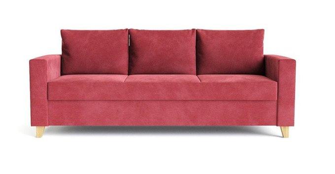 Диван-кровать Эмилио красного цвета