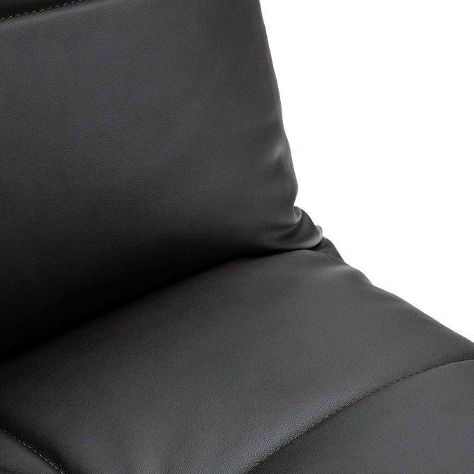 Диван-кровать Арбат из экокожи коричневого цвета