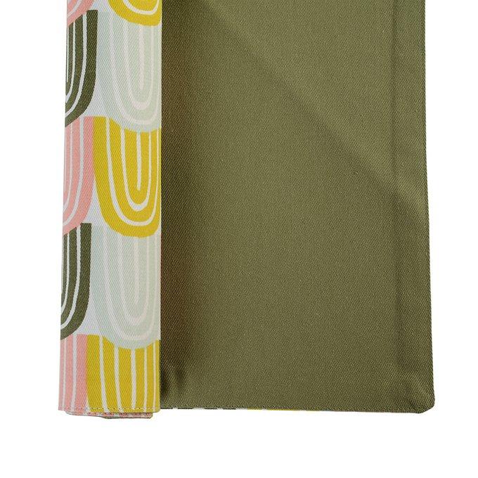 Салфетка двухсторонняя под приборы Wild оливкового цвета с принтом Passion Arch 35х45
