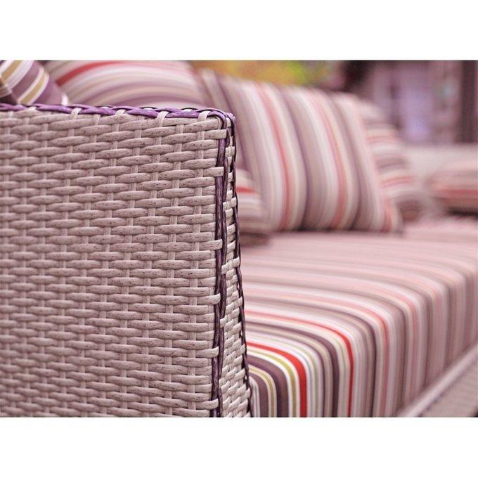 Кресло Орхидея с полосатыми подушками