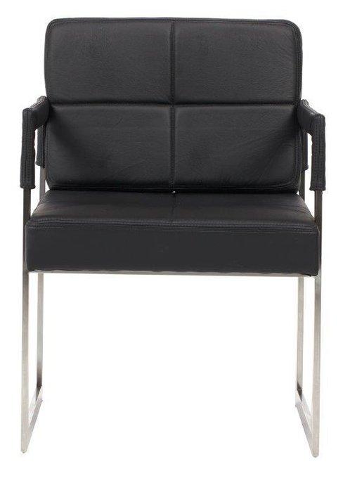 Кресло Aster Chair Черная Кожа