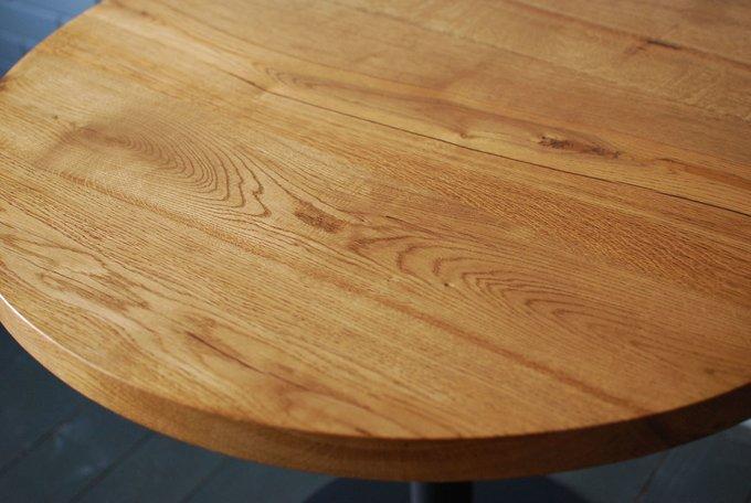 Круглый стол Bar Slab из слэбов дуба