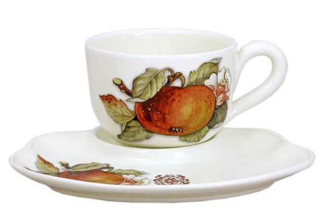 Чашка на блюдце-подносе Античные фрукты