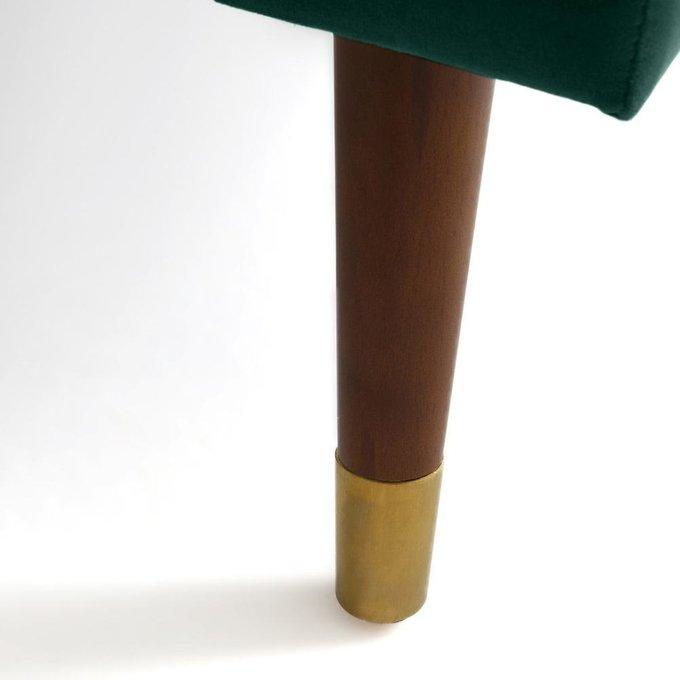 Пуф Wilde Y из велюра и полиэстера зеленого цвета