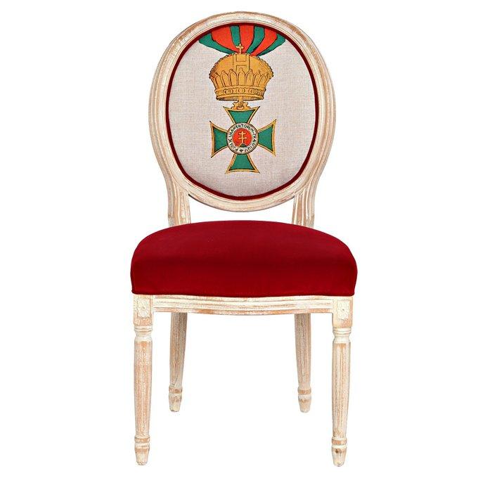 Стул Королевский Венгерский орден Св.Стефана с сиденьем красного цвета