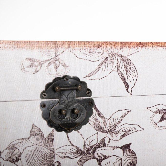 Набор из двух сундуков серо-белого цвета