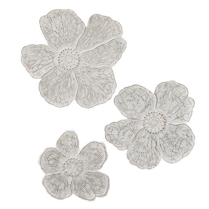 Набор из трех настенных декоров Цветок