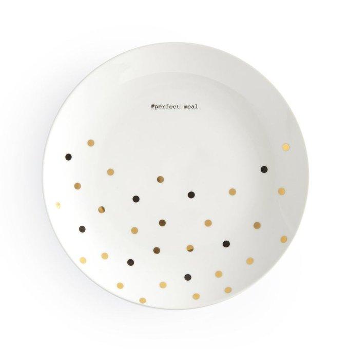 Тарелка Kubler из фарфора белого цвета