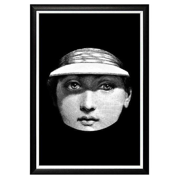 Арт-постер Лина версия Ницца в черно-белой раме