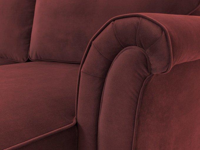 Угловой диван-кровать Sydney бордового цвета