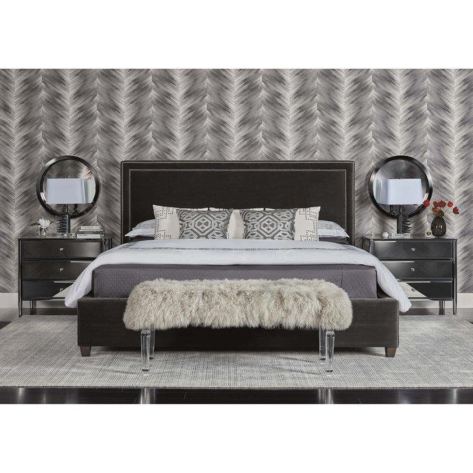 Кровать Dakota2 светло-бежевого цвета 160х200