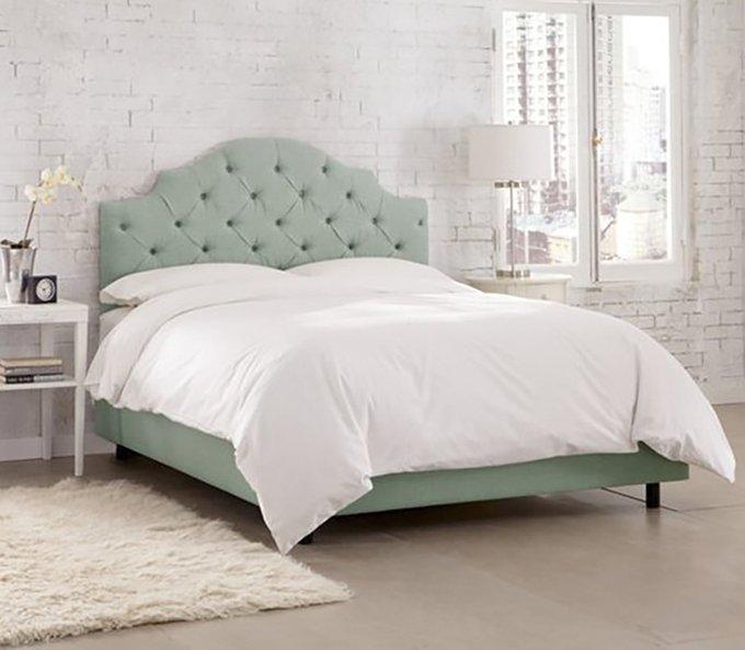 Кровать Henley Tufted Swedish Blue 180х200 серого цвета