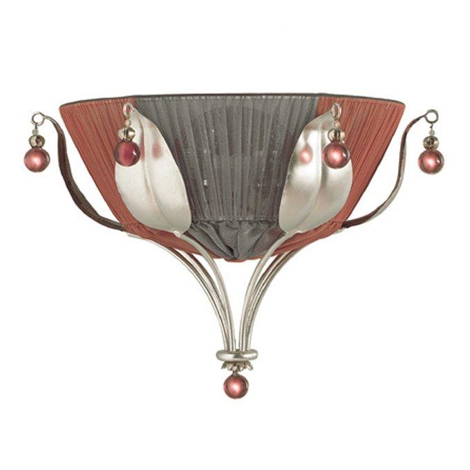Настенный светильник BAGA из металла покрытого фольгированным серебром