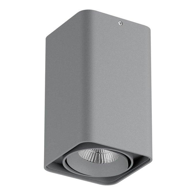 Потолочный светодиодный светильник Monocco серого цвета