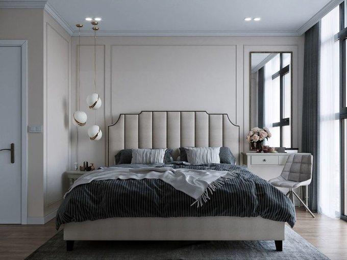 Кровать Даллас 160х200 бежевого цвета  с подъемным механизмом