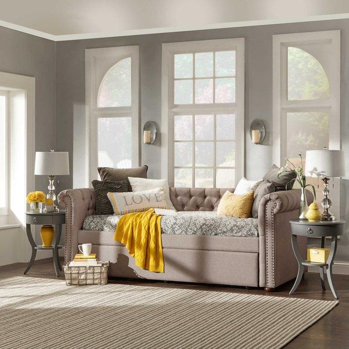 Диван-кровать Chelsy серого цвета 90х200
