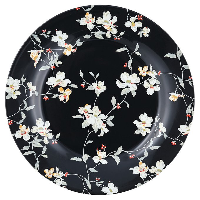 Тарелка Jolie black из фарфора