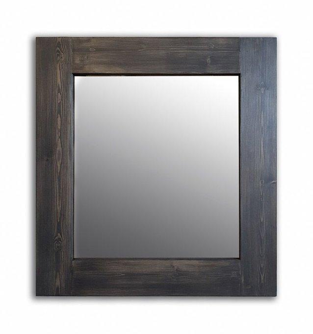 Настенное зеркало Венге в раме из массива сосны 80х80