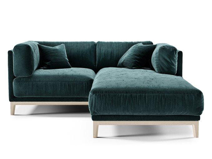 Угловой диван Case синего цвета