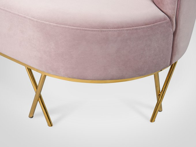 Софа пудрово-розового цвета