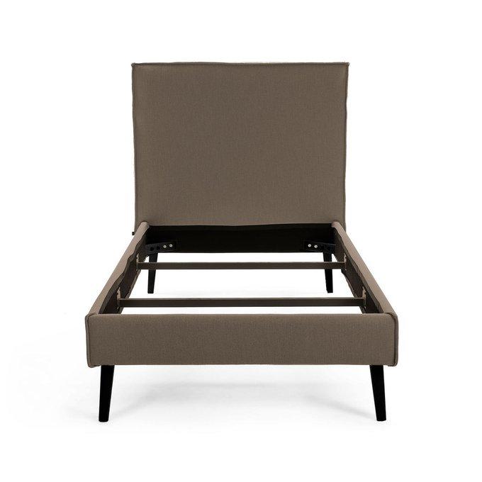 Кровать Этель 160х200 коричневого цвета