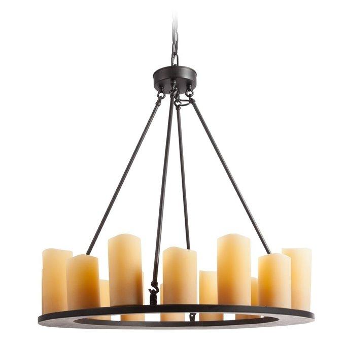 Люстра Pillar Candle в виде круга с плафонами в виде свечей