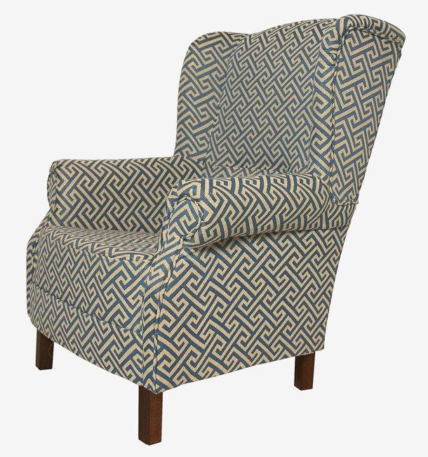 Кресло сине-бежевого цвета