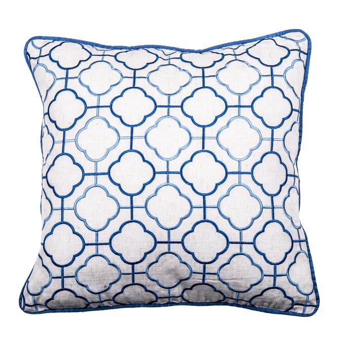 Декоративная подушка Provy в бело-синем цвете