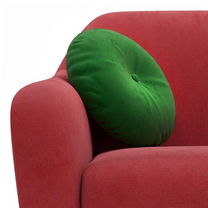Трехместный диван Miami lux красного цвета
