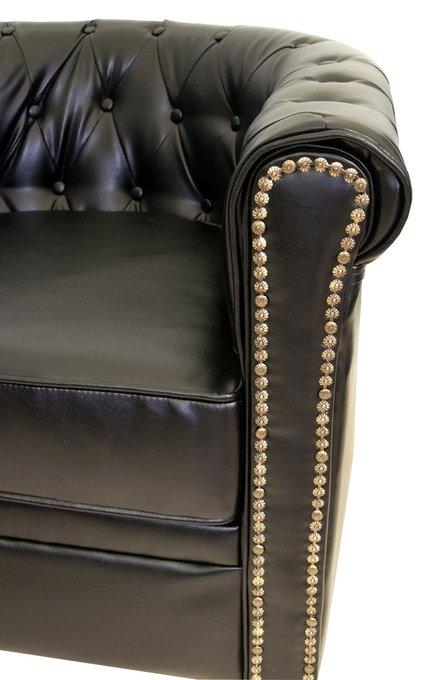 Кожаный диван Karo black