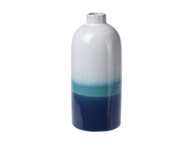 Ваза Marina бело-синего цвета
