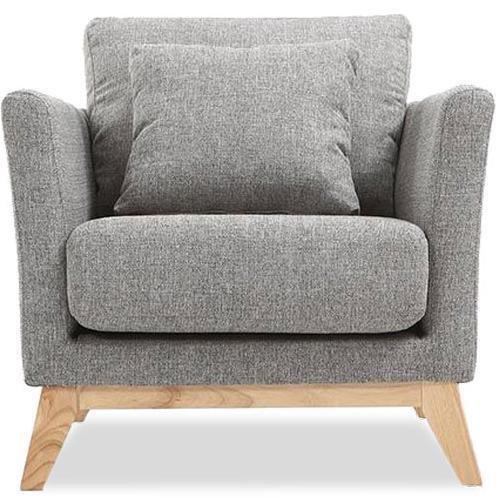 Кресло Дублин лайт грей серого цвета