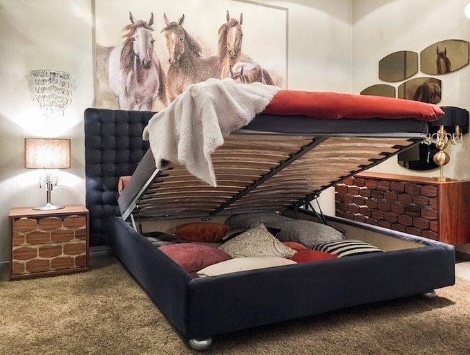 """Кровать """"Holly blue"""" с подъемным механизмом 180х200"""