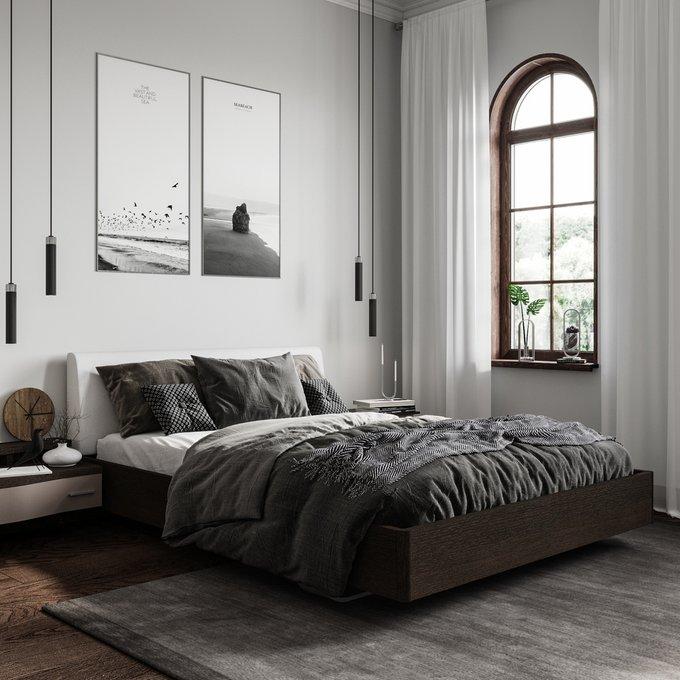 Кровать Элеонора 140х200 с изголовьем белого цвета