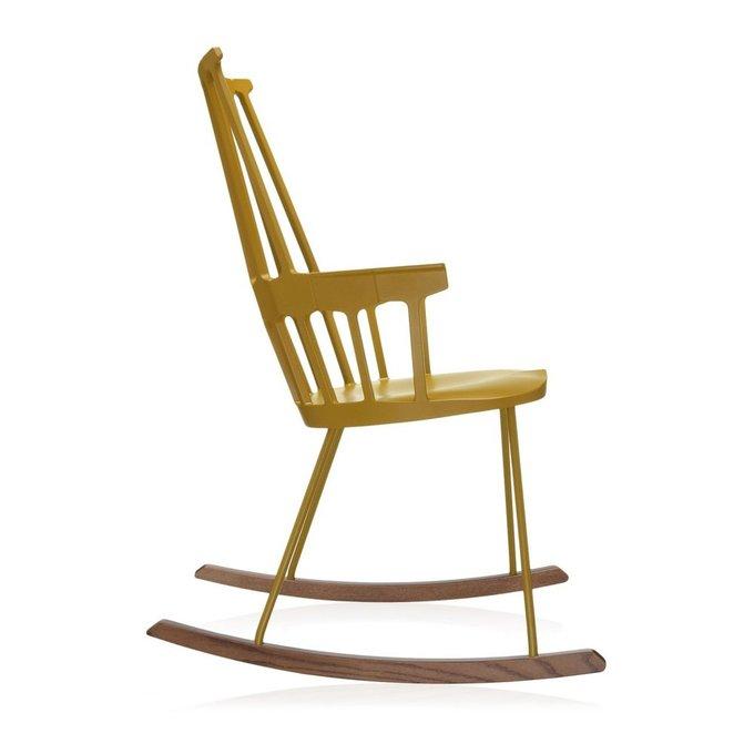 Кресло-качалка Comback желтого цвета