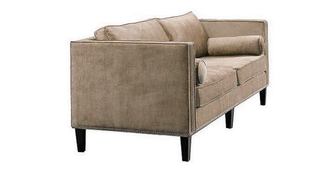 Прямой диван Габриэль коричневого цвета