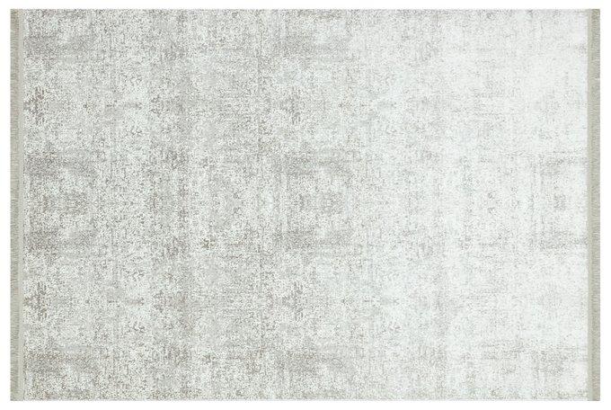 Ковер серо-бежевого цвета с бахромой 120x180