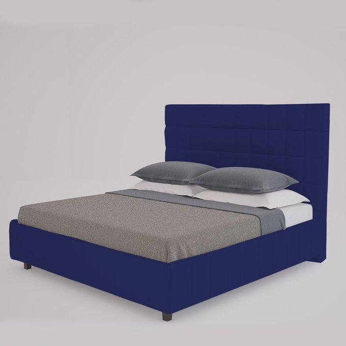 Кровать Shining Modern темно-синего цвета 180х200