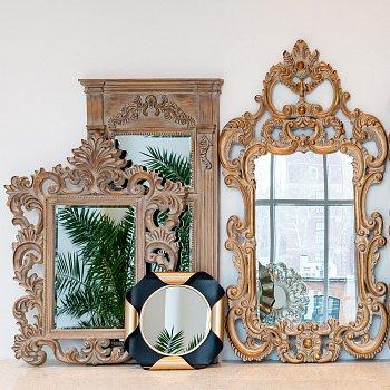 Настенное зеркало Ланкастер с эффектом старины