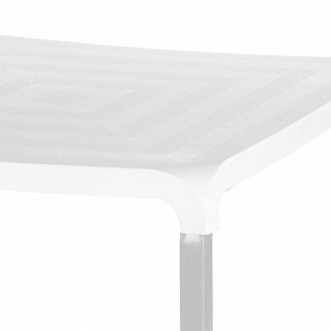 Обеденный стол со столешницей из пластика