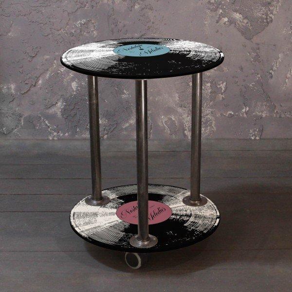 Кофейный столик на колесиках Винил