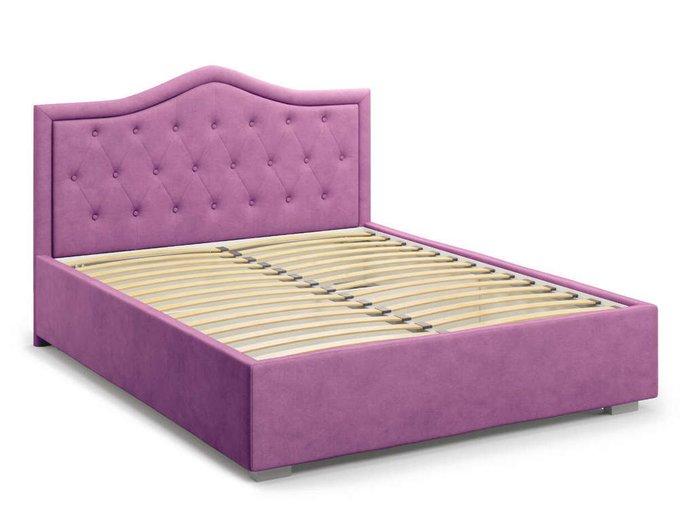 Кровать Tibr без подъемного механизма 140х200 фиолетового цвета